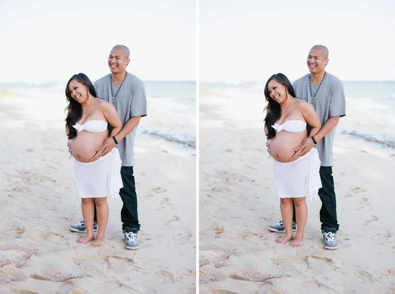 Beautiful hawaii maternity photos at the beach in oahu by hawaii wedding photographer