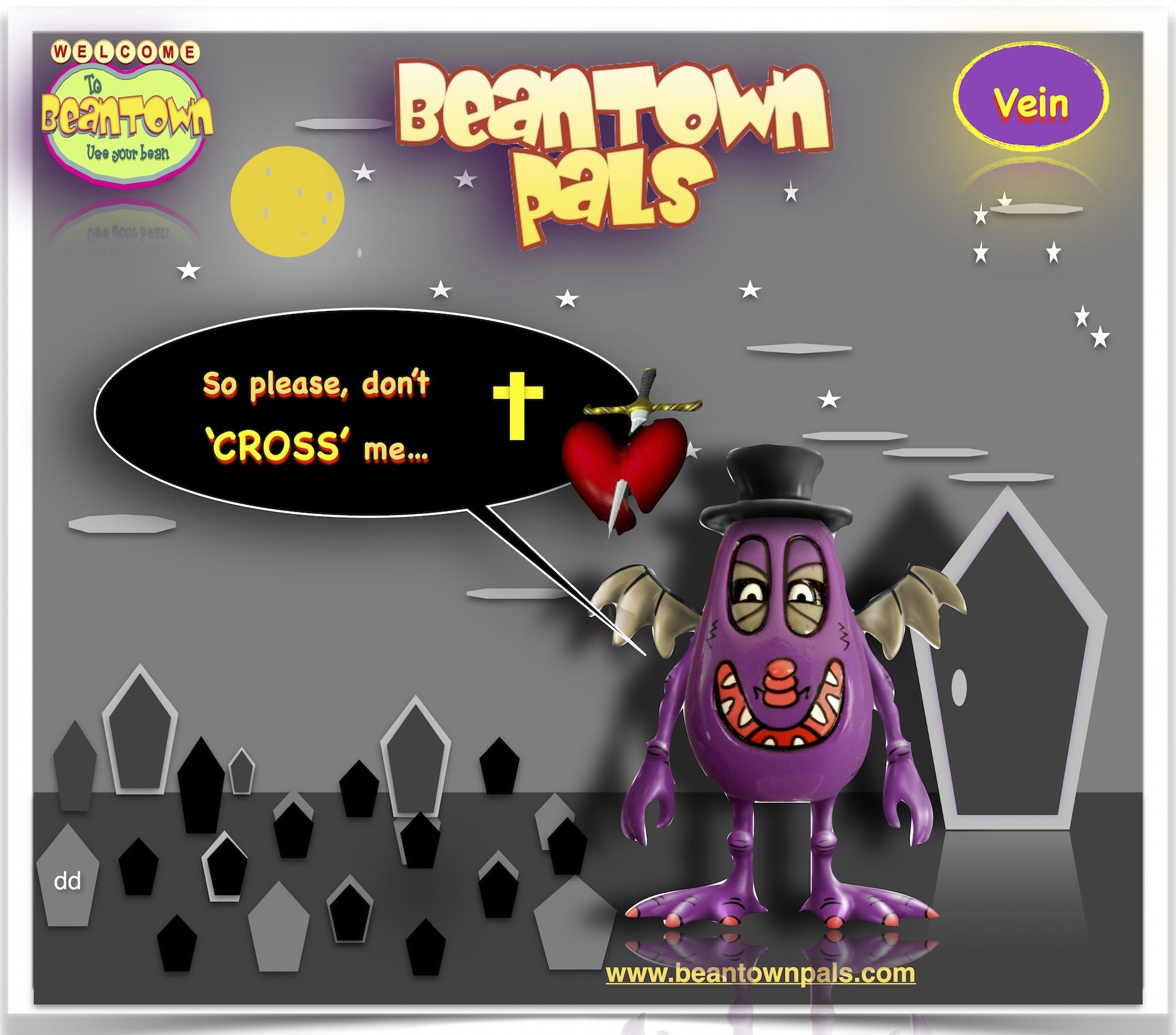 vein #bean #please #don't #cross #me #vampire #beantownpals #disney