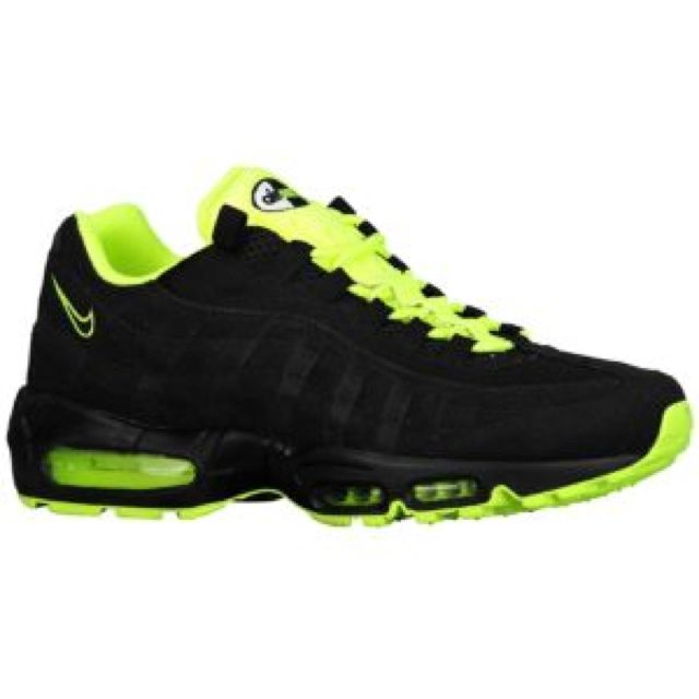 Airmax 95 Jet Black And Neon Green Gives Me Life Love These