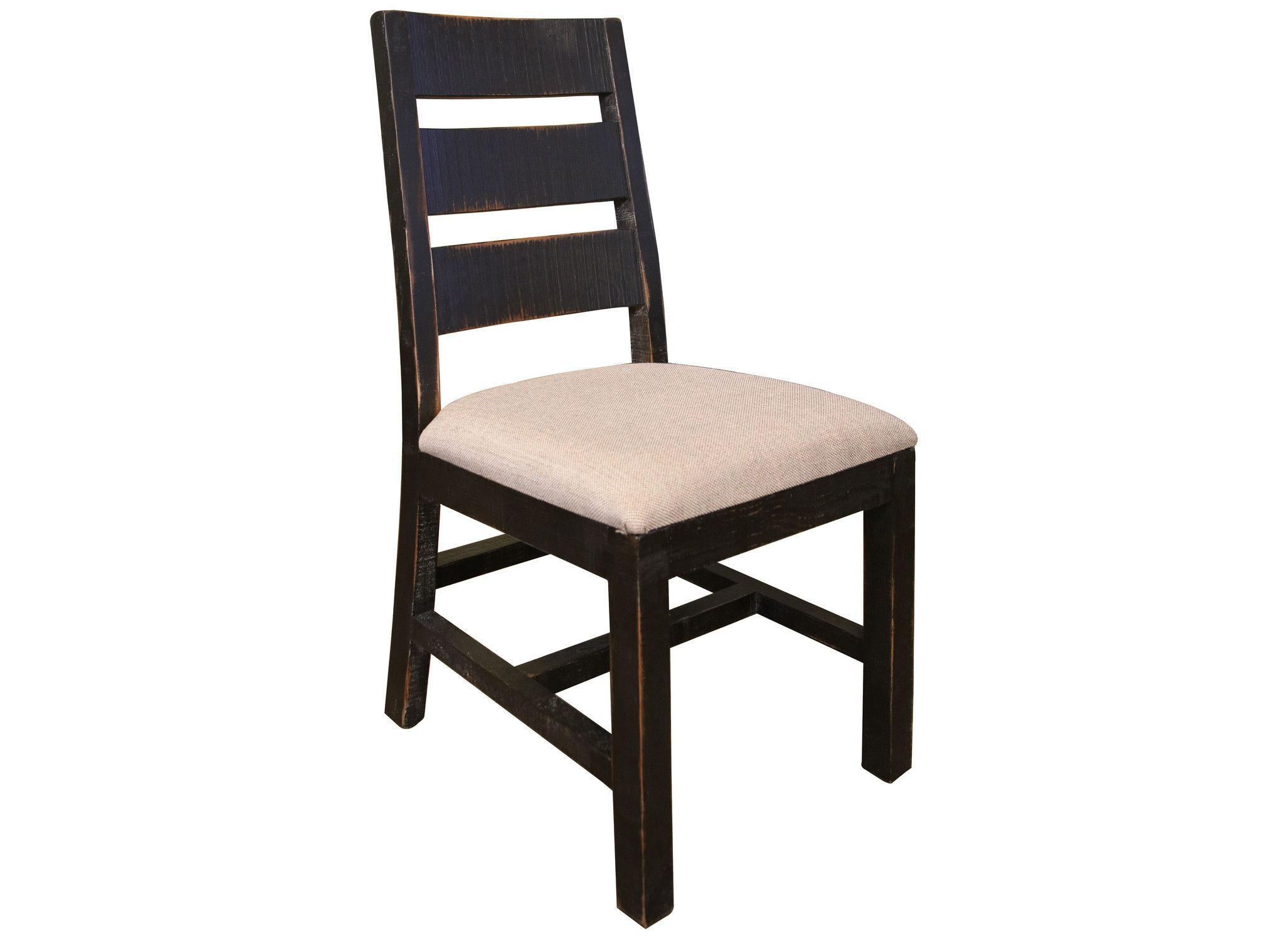 Bayshore Distressed Black Dining Chair #370 | Products