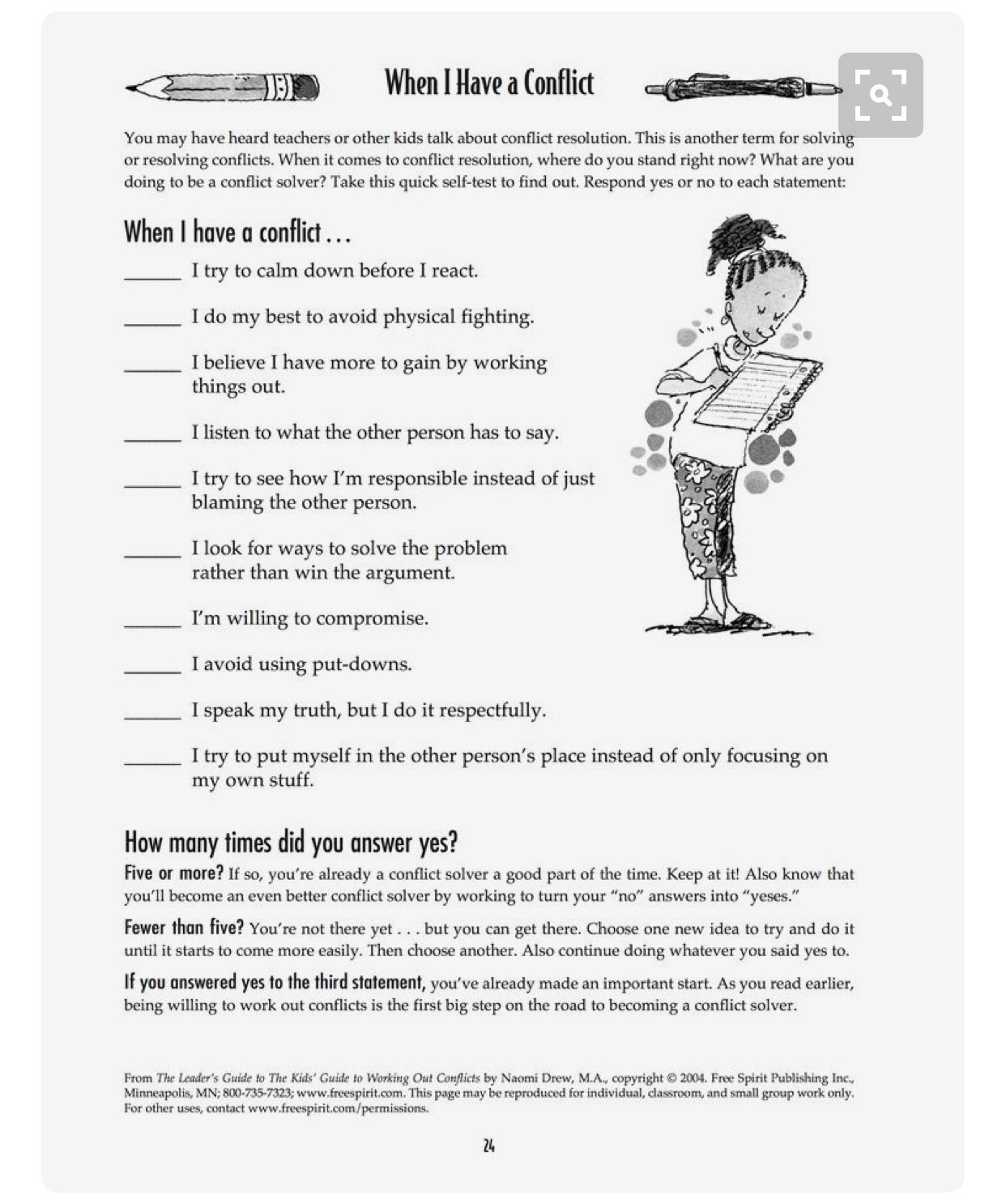 Worksheets Anger Management Therapy Worksheets pin by eboni salley on social skills pinterest therapy teach your child to read free printable worksheet when i have a conflict quick self test help kids determine how they handle co