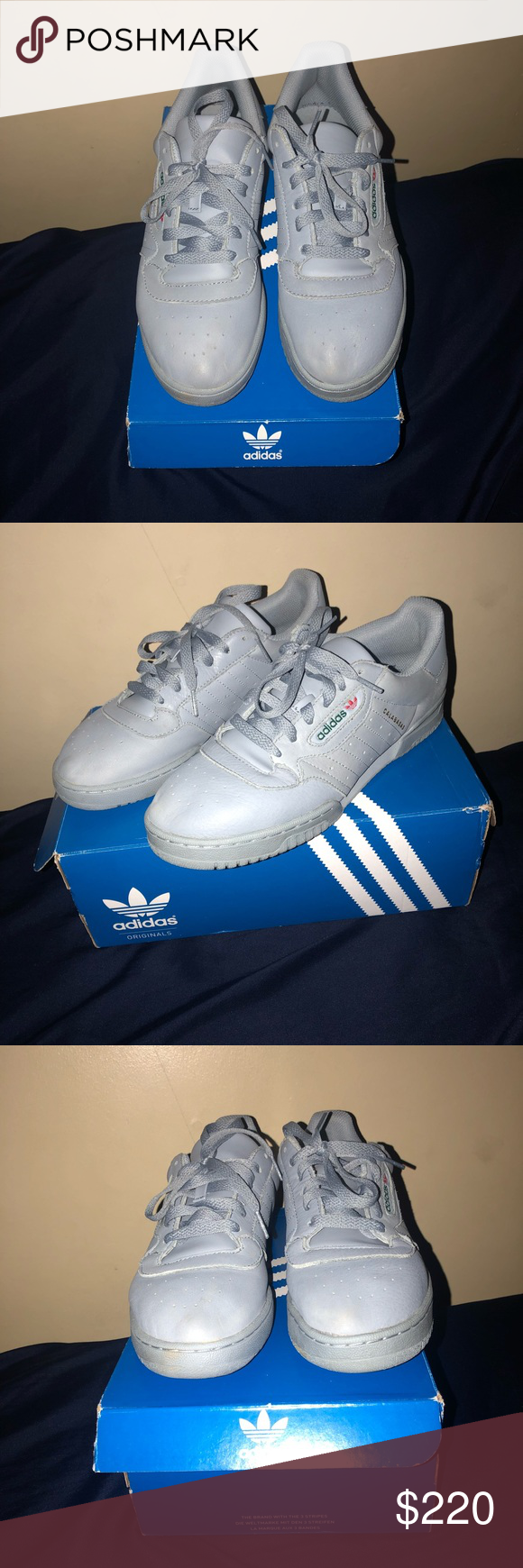 7162911052f Yeezy Powerphase -Colorway  Grey Supcol -Materials  Leather