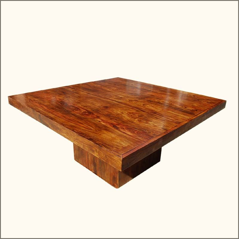 Modern Rustic Chairs solid wood modern rustic block pedestal square dining table for 8