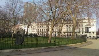 Fitzroy Square, built by John Adam to provide houses for aristocratic families #fitzroysquare #fitzrovia #london #property #architecture #design #palmstar To find out more on buying property in London see: https://www.palmstar.co.uk/