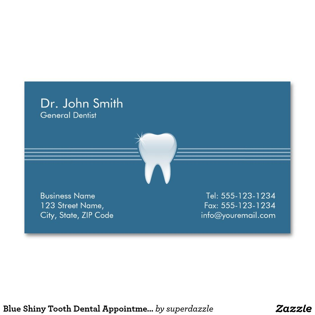 Dentist Appointment Card Template