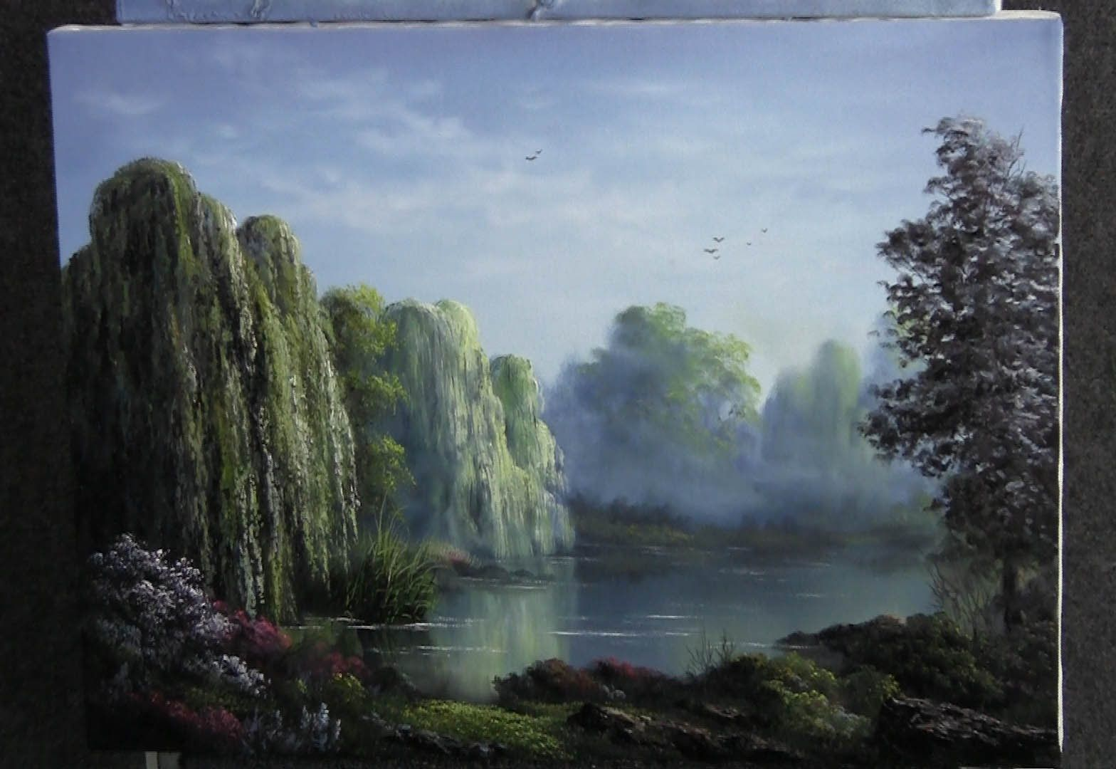 Lecciones De Pintura Al Oleo Paint With Kevin Hill Weeping Willows Oil Painting