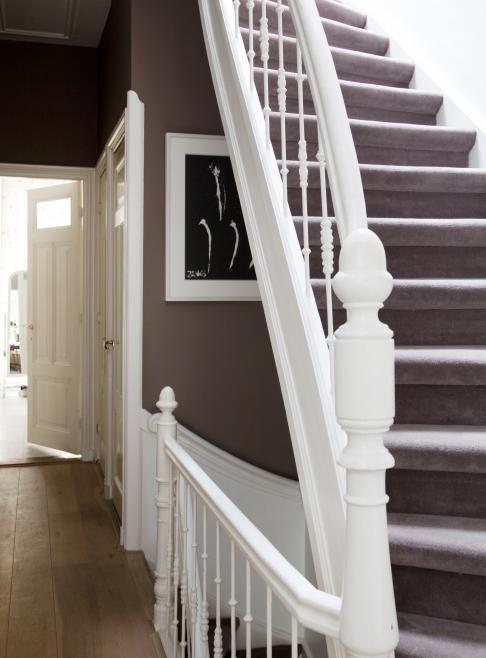 Mooie gang trap en kleurencombinatie trap pinterest kleurencombinatie trap en voor het huis - Geschilderde houten trap ...