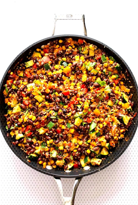 Spicy Quinoa amp Black Bean Burritos... Freezer friendly and a perfect meal prep idea. Make ahead