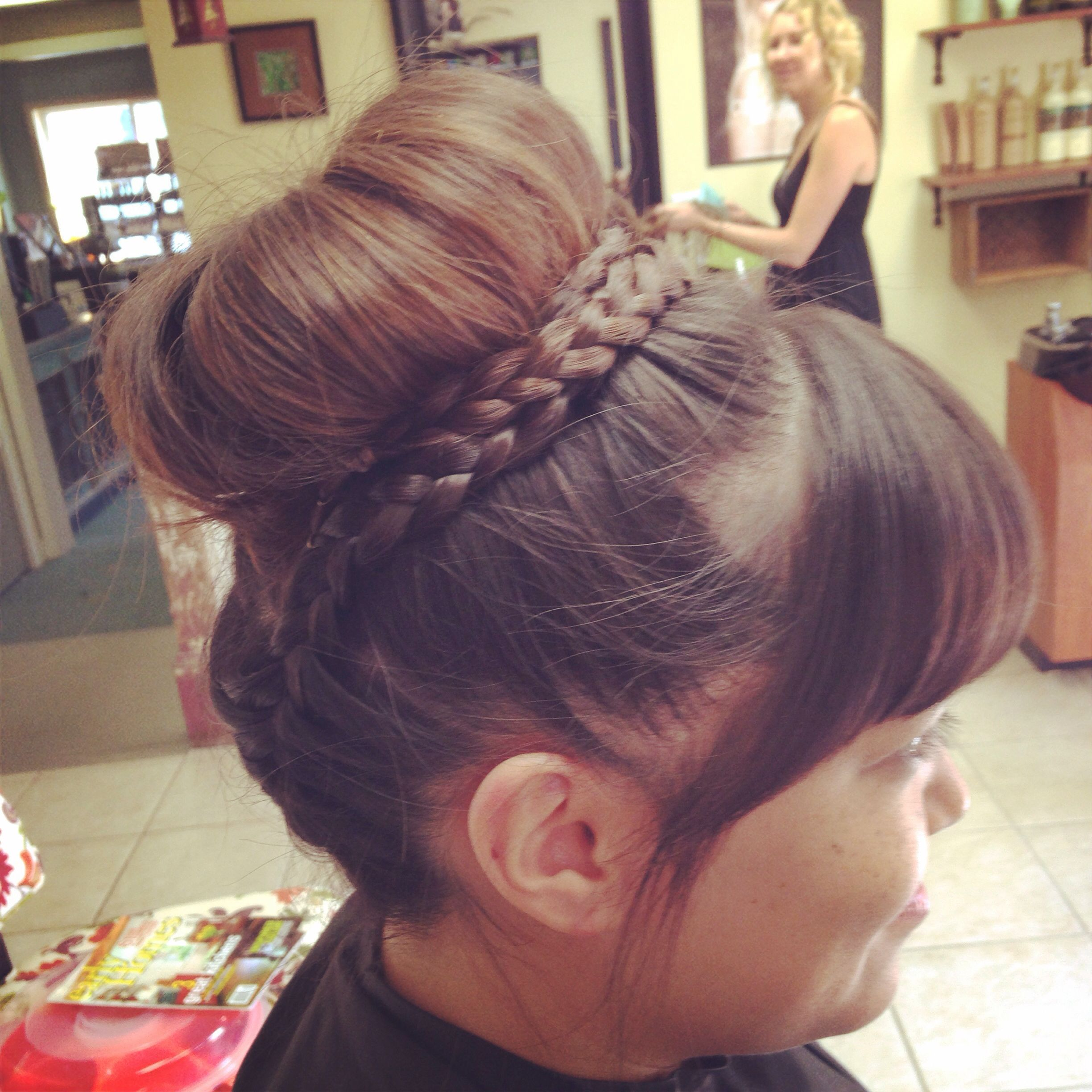 Bun. Updo. Simple. Braids.