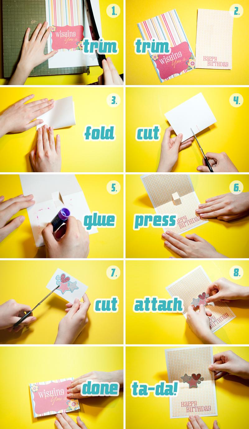 Scrapbook ideas pop up - How To Make A Pop Up Card From Scrap Girls A Tutorial Using Digital Scrapbooking To Create A Pop Up Card