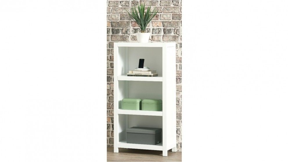 Aston 600mm 3 Tier Bookcase White Home Office Furniture Outdoor Bbqs