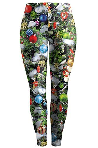 e2f0c09a4fbab Pink Queen Womens Christmas Printed Plus Size Leggings Footless Tights >>>  See this great product.