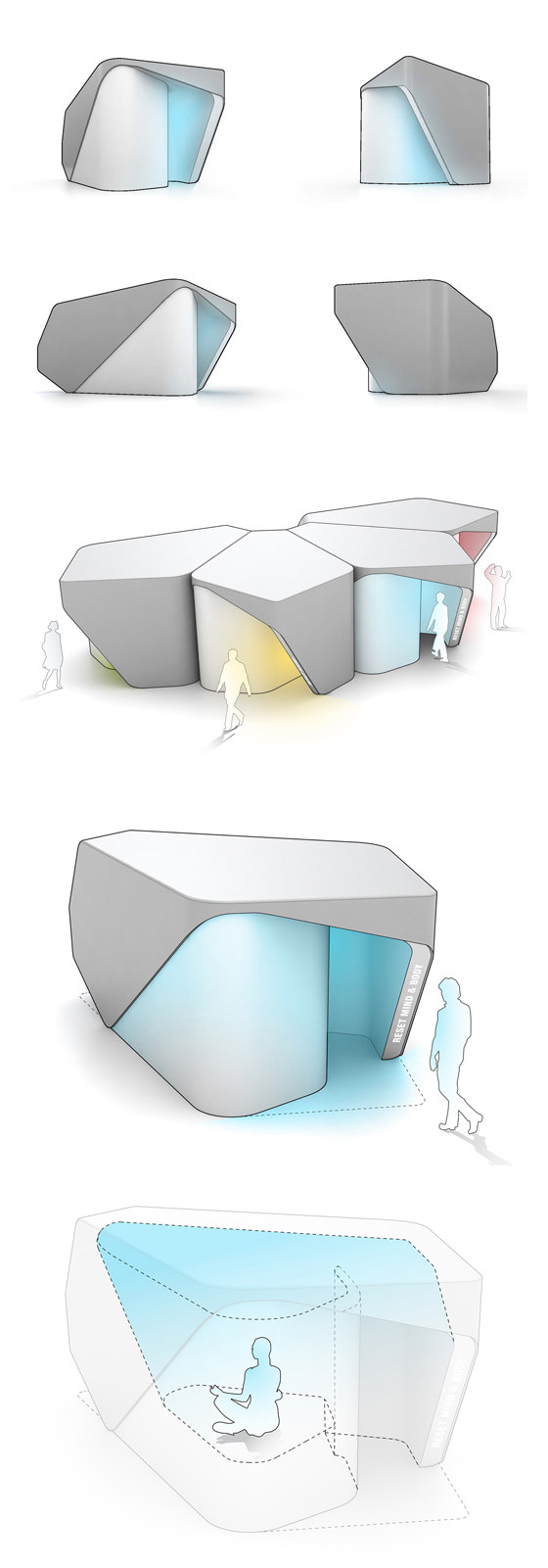 RESET - Stress Free Zone by UNStudio | Temporary structures