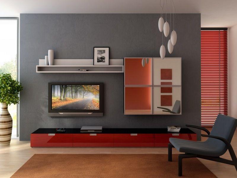 Redandgraysmalllivingroomapartment 800×600  Tvmedia Unique Gray And Red Living Room Interior Design Design Decoration
