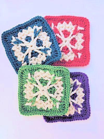 CrochetKim Free Crochet Pattern | Bailey Afghan Square Block ...