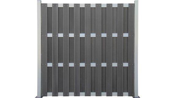 SichtschutzzaunElement WPC AluAnthrazit 180 cm x 180 cm