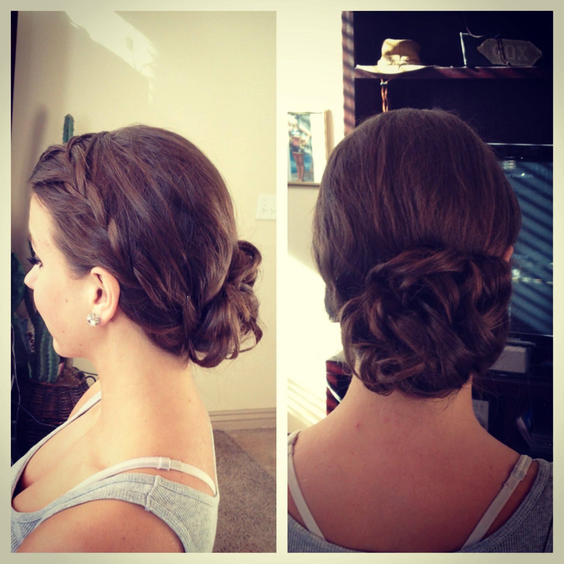 Romantic formal updo just did this for a sweetheartus dance