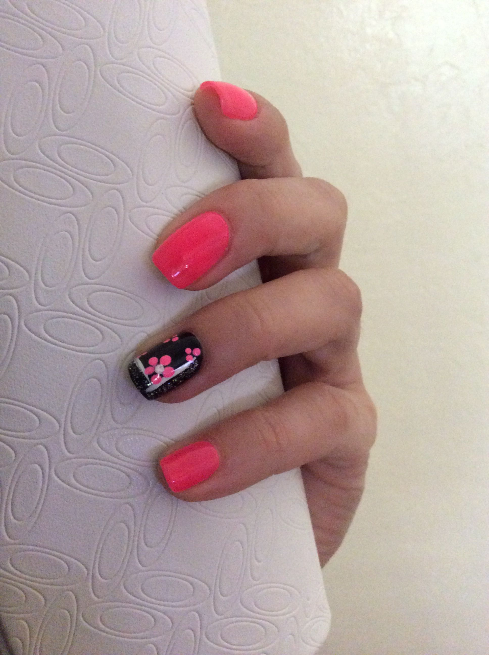 Pink and black Shellac