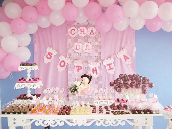 Decoracion cumple 1 a o ni a buscar con google dulce - Decoracion de baby shower nina ...