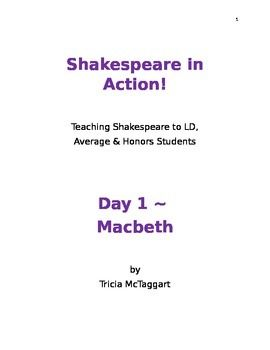 Photo of Shakespeare in Action!  Day 1 ~ MACBETH