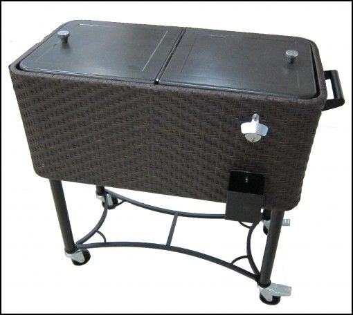 Perfect Patio Cooler On Wheels