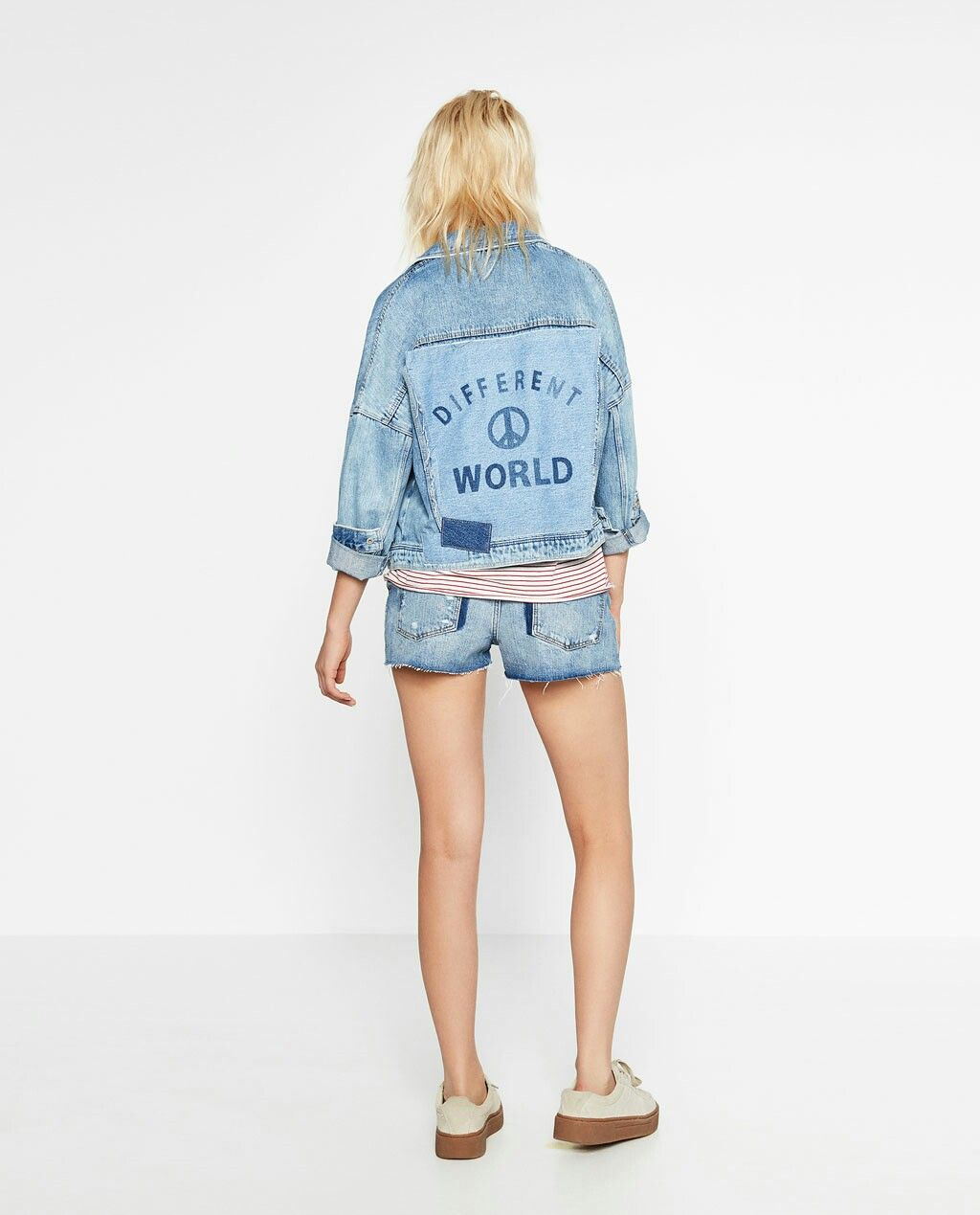 "Blouson Zara - collection ""I am denim"""