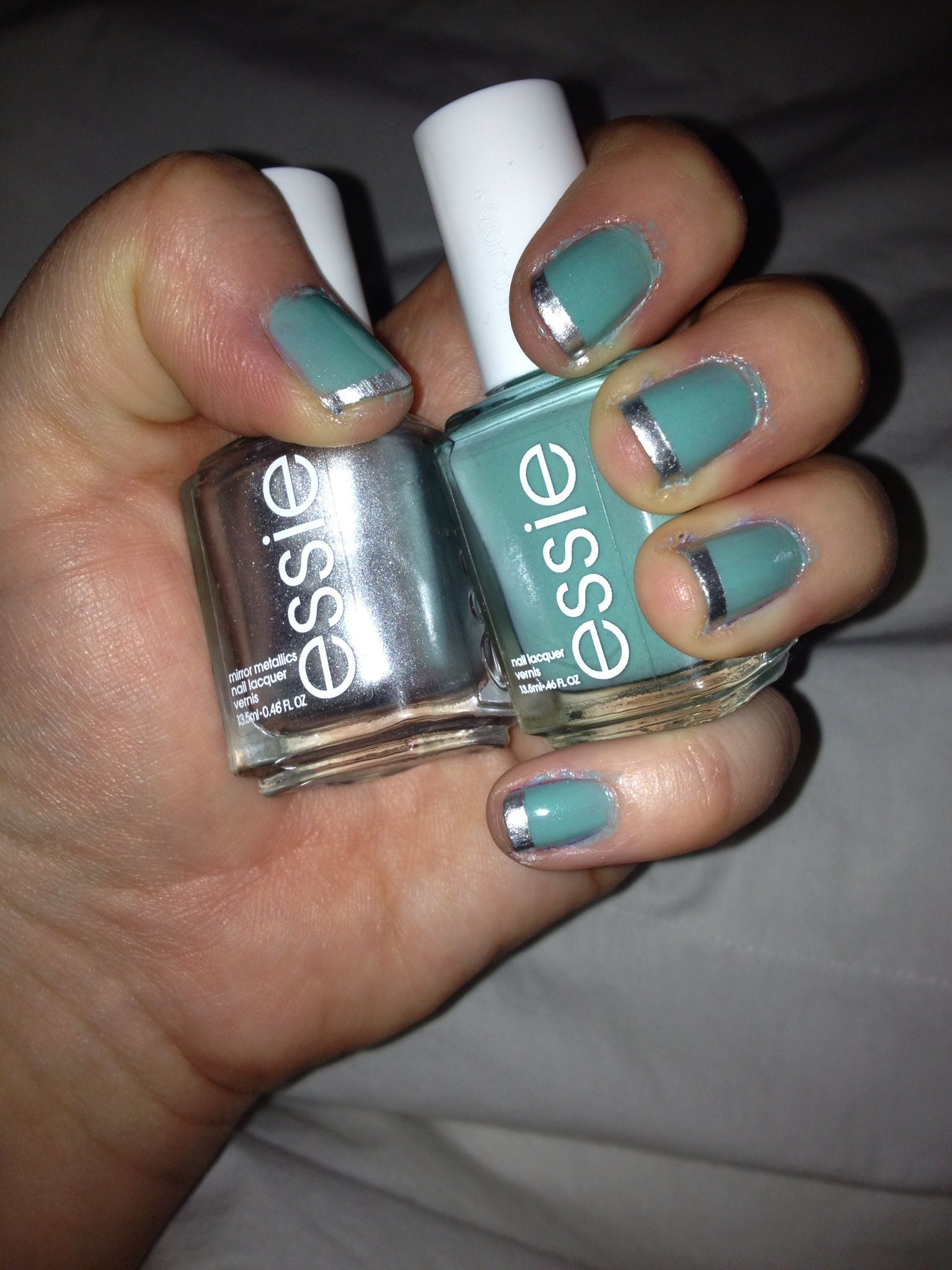 Essie Turquoise and Caicos with There's No Place Like ...