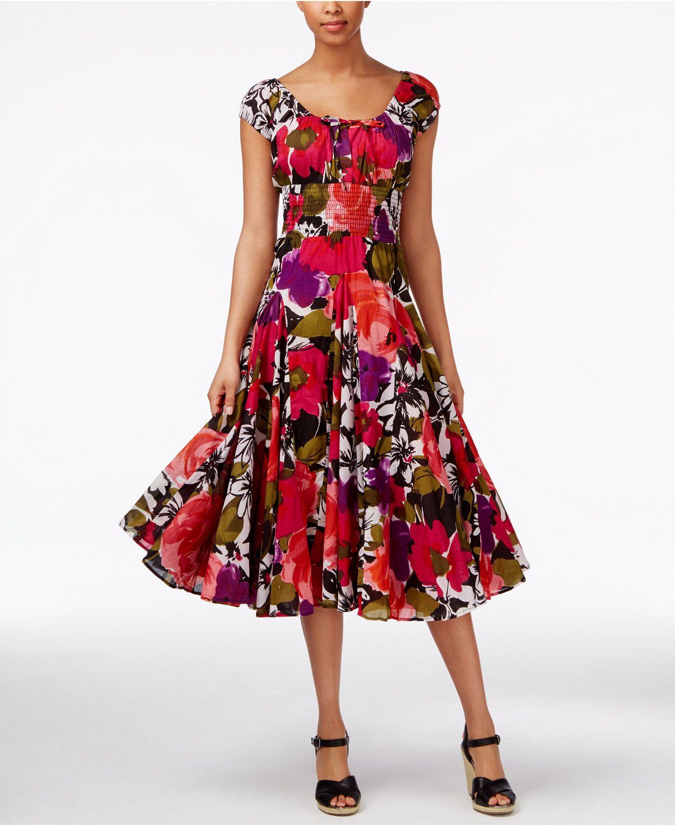 Grace elements floralprint peasant dress dresses women macyus