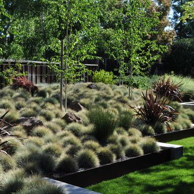 Landscaping For Down A Hill Sloped Garden Modern Garden Landscaping Modern Garden