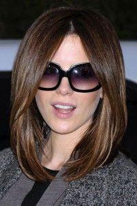 exquisitos cortes de pelo moreno y rubio para el pelo medio largo cortes de - Cortes De Pelo Medio