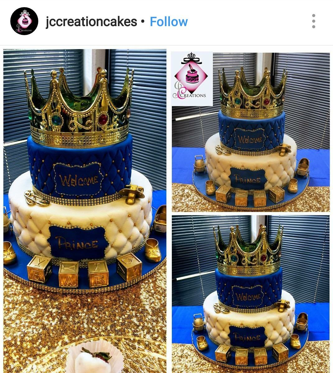Royal Prince Babyshower Cake Royalty Baby Shower Prince Baby