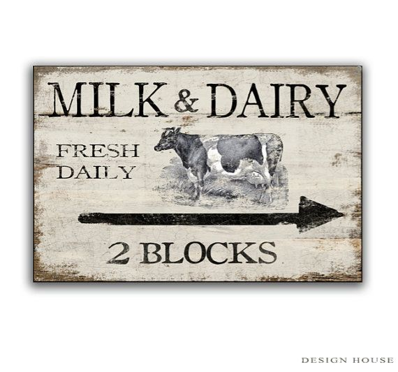 Country Signs Decor Captivating Milk And Dairy Wooden Sign Handmade Farm Signsdesignhousedecor Design Ideas