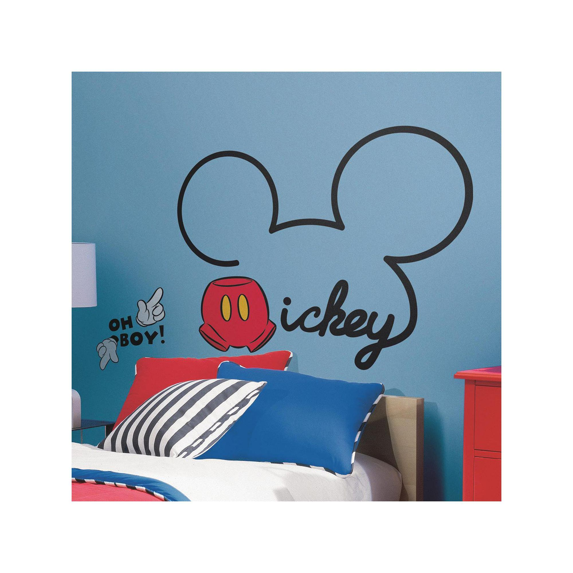 Roommates Disney Mickey Mouse Peel & Stick Giant Wall Decals