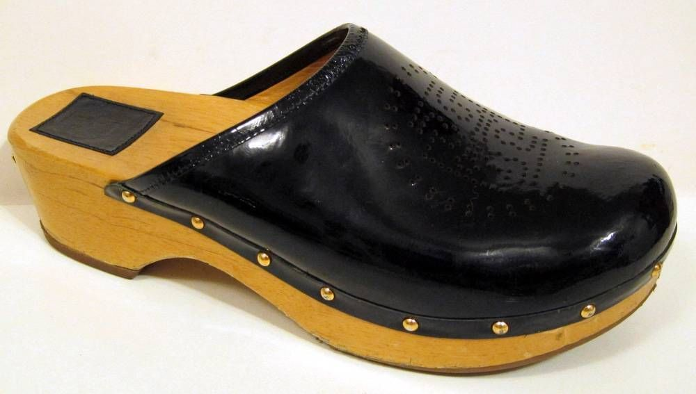2af3934f3 Tory Burch  Bryce  Navy Blue Patent Leather Clog Size 11M  ToryBurch  Clogs