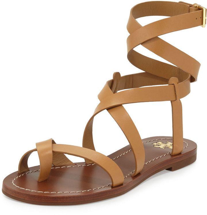 c106c6cac5b2 Tory Burch Patos Crisscross Leather Sandal