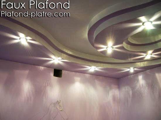 La m me chose s 39 applique aux ampoules halog nes modernes for Faux plafond en platre style francais
