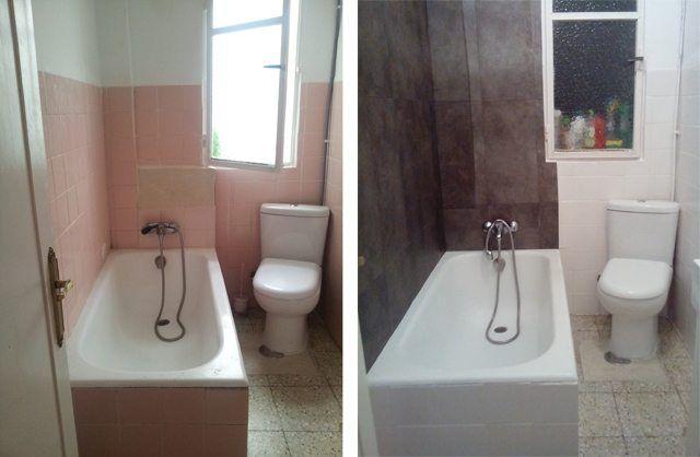 reforma-baño-sin-obra-poco-presupuesto | pintura | Pinterest ...