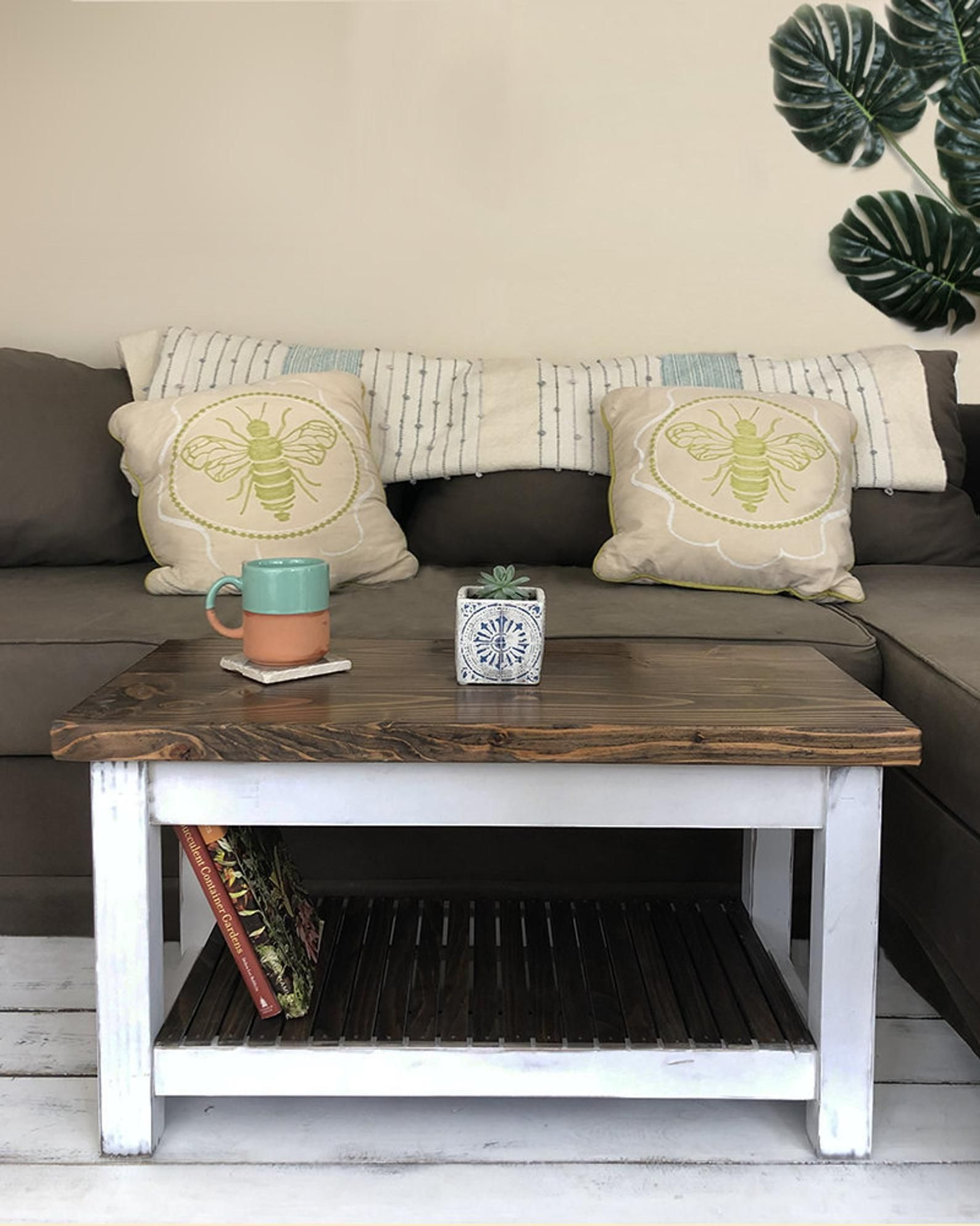 farmhouse style coffee table no 2 solid wood rustic on modern farmhouse patio furniture coffee tables id=28066
