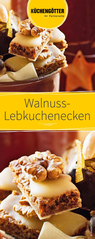 Walnuss-Lebkuchenecken #plätzchenrezept