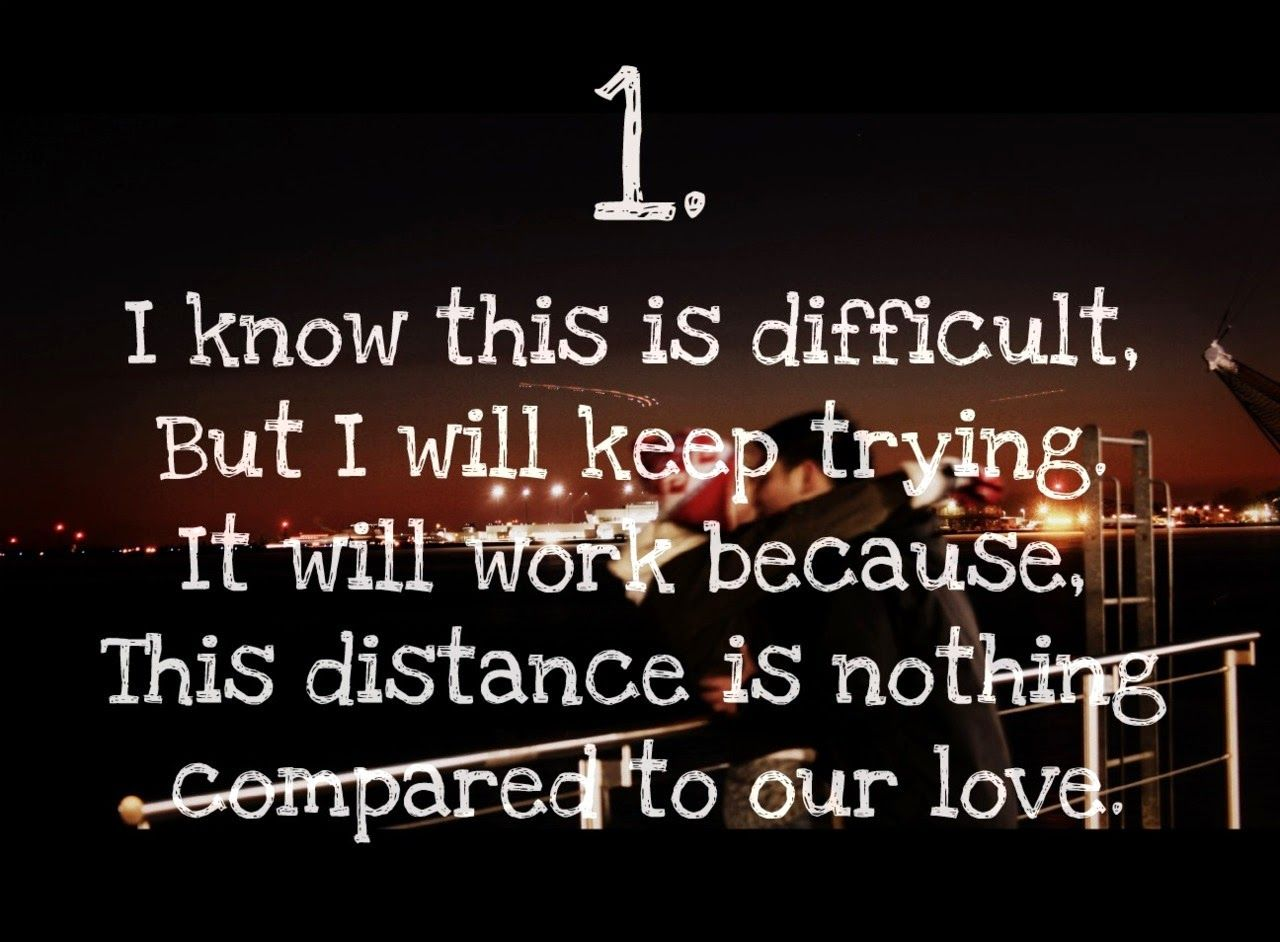 Long distance relationship 3