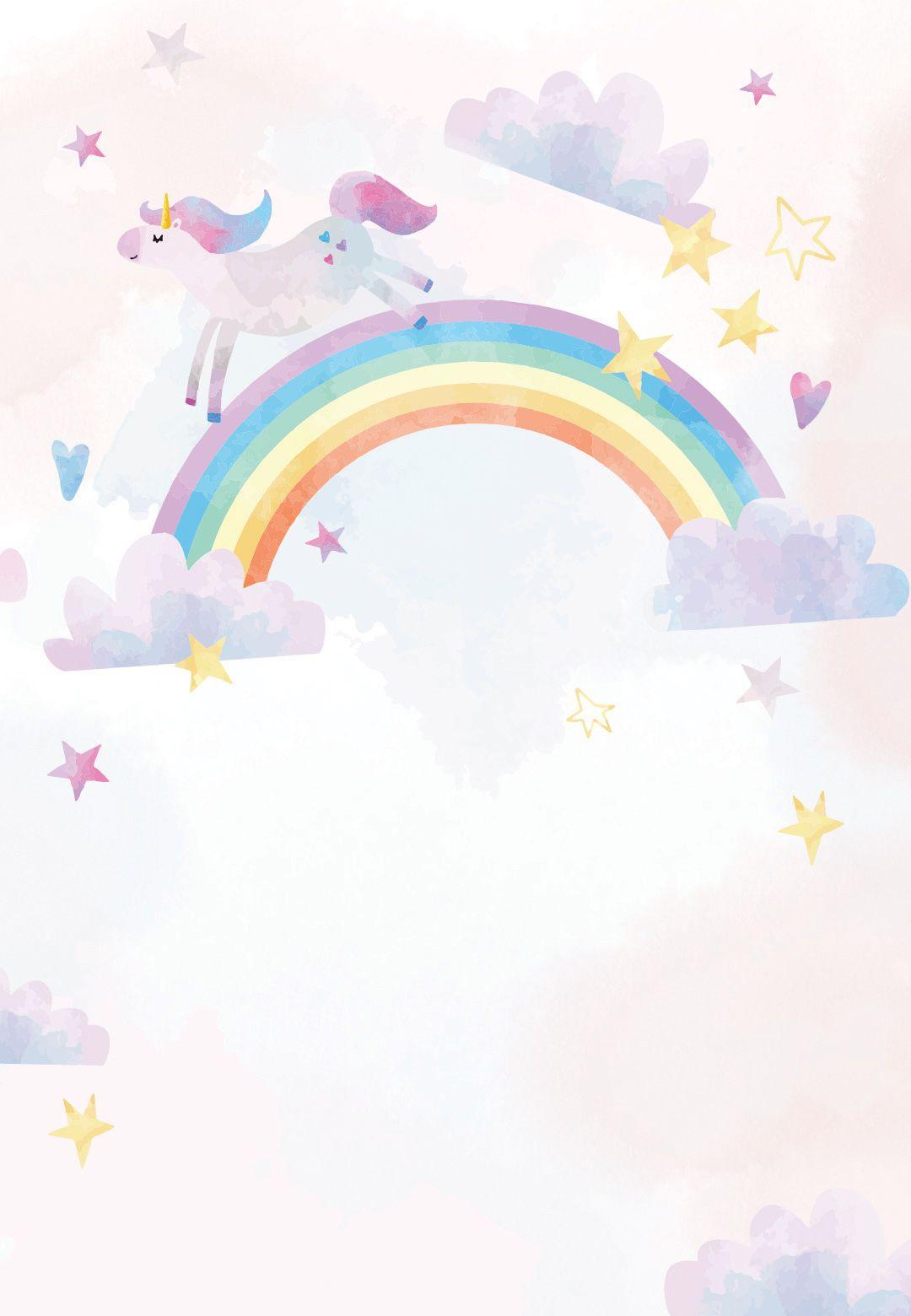 unicorn party  birthday invitation template  greetings
