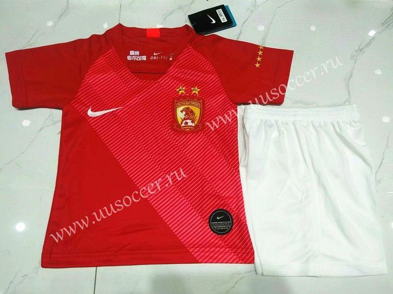20192020 guangzhou evergrande home red kidsyouth soccer
