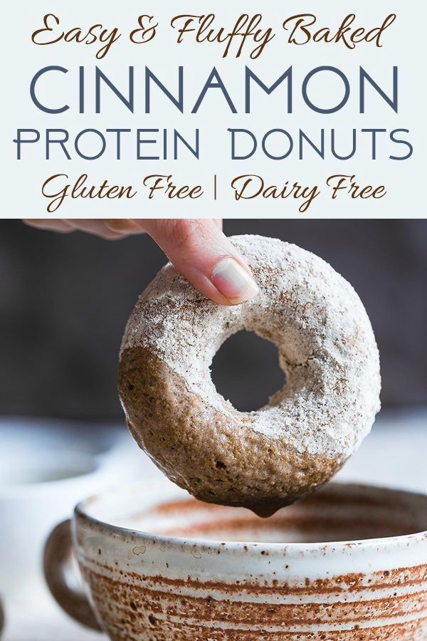 Cinnamon Baked Protein Donuts - This gluten free Healthy Protein Donuts Recipe is soft, fluffy and secretly protein packed! A perfect treat to curb your sweet tooth, and a dairy-free option is included! Great for kids and adults! | #Glutenfree #Dairyfree #Healthy #Donuts #Dessert #proteindonuts Cinnamon Baked Protein Donuts - This gluten free Healthy Protein Donuts Recipe is soft, fluffy and secretly protein packed! A perfect treat to curb your sweet tooth, and a dairy-free option is included! G #proteindonuts
