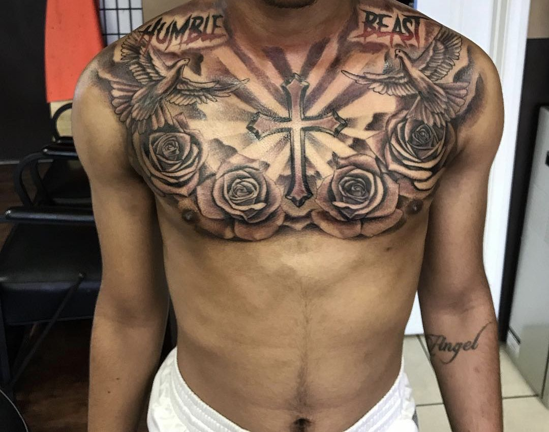 Tattoos image by Jamal King Chest tattoo men, Chest