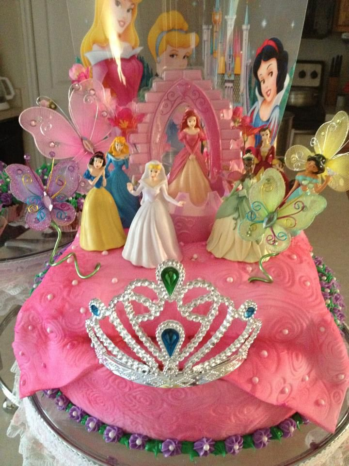 Disney Princess Birthday Cake Hannahs birthday Pinterest