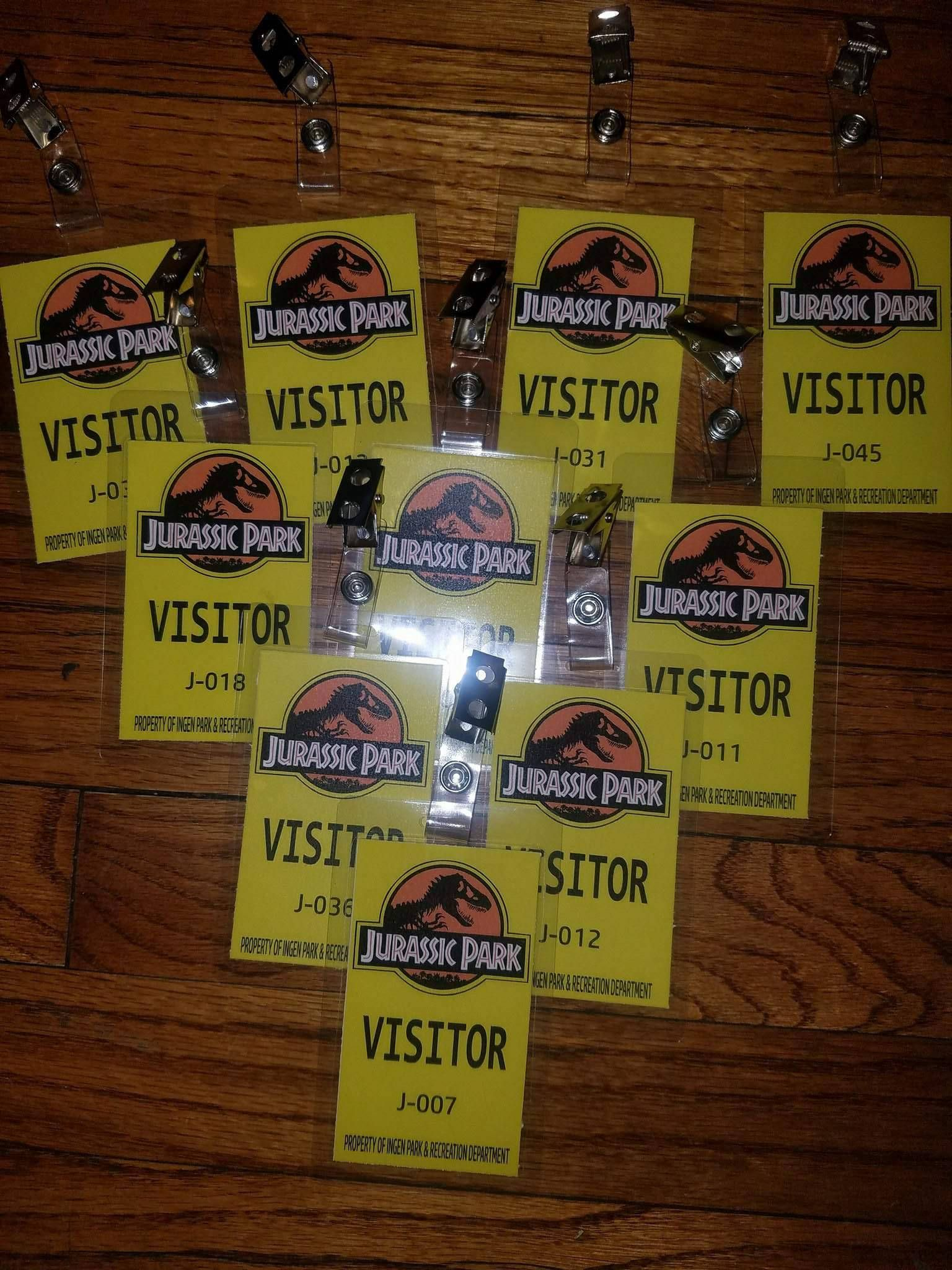 Jurassic Park World Badges Visitors VIP Rangers Security Party Favor Prop By HelpingCreate On Etsy