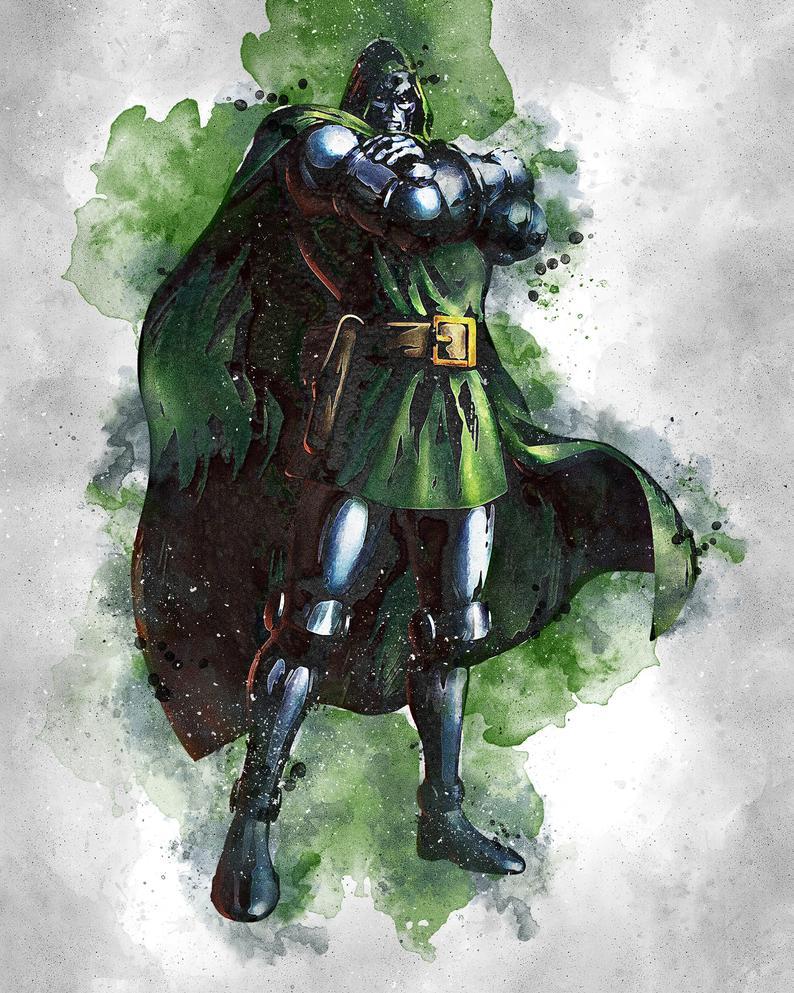 Dr Doom Dr Doom Poster Dr Doom Digital Marvel Poster Etsy Marvel Posters Art Superhero Wallpaper