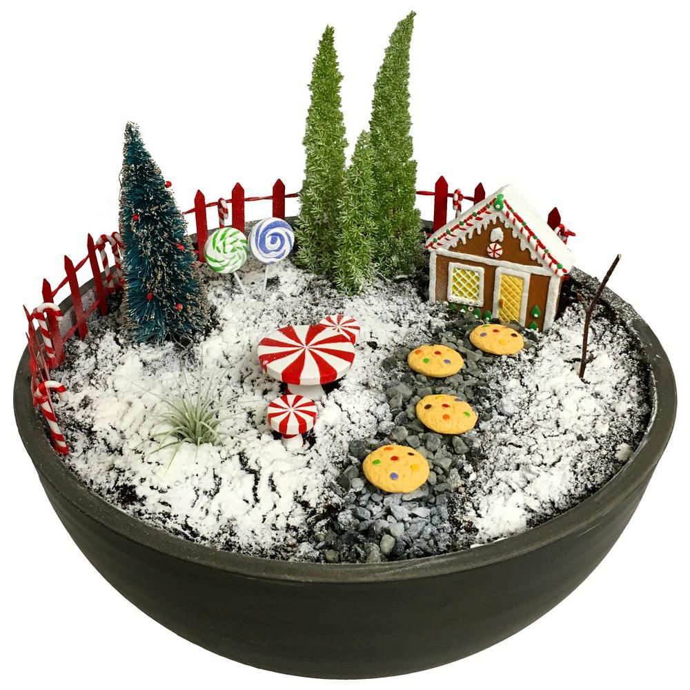 Arcadia Garden Products Gingerbread Polyresin Fairy Garden Kit 14