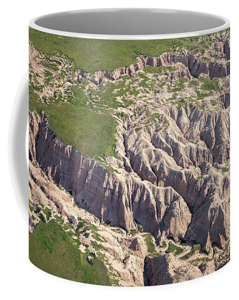 Aerial View of Badlands National Park Coffee Mug for Sale by Joan Carroll