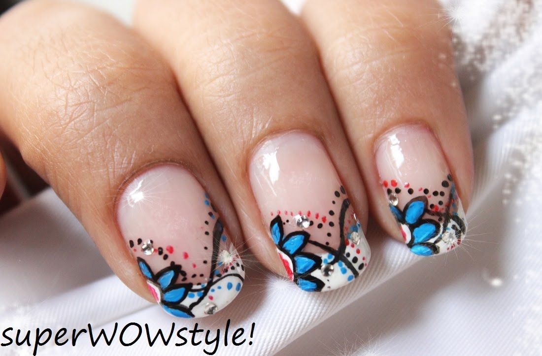 French Tip - Beautiful Abstract Nail Designs ✿ Flower Nail Art ...